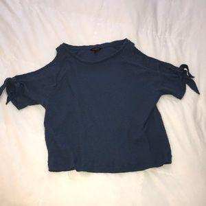lucky brand open shoulder shirt